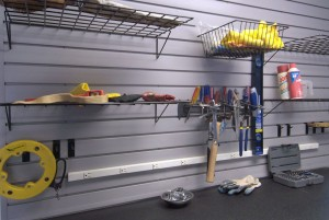 Shelving in basement