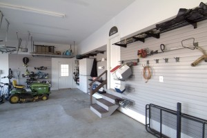 Organized garage inside