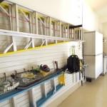 Ladders Hanging in Garage
