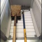 Garage storage cabinet