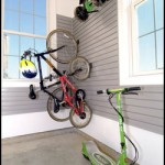Bikes on Hooks in Garage