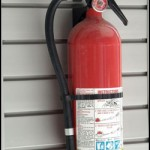 Fire Extinguisher on Hook