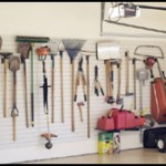 Tools on Garage Hooks