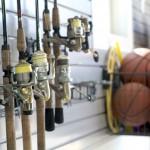 Fishing Poles in Garage