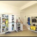 Garage Floor and Shelves