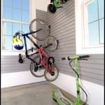 Bikes on Hooks in Garage
