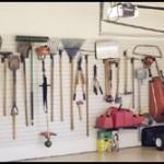 Tools on Garage Hooks