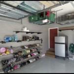 Organized Shelves in Garage
